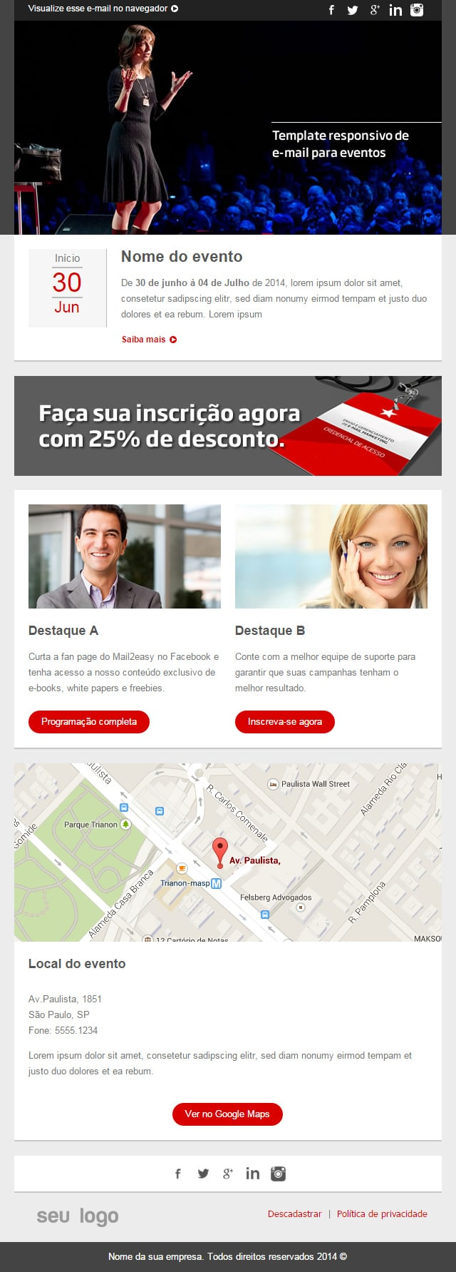 Templates responsivos para e-mail marketing