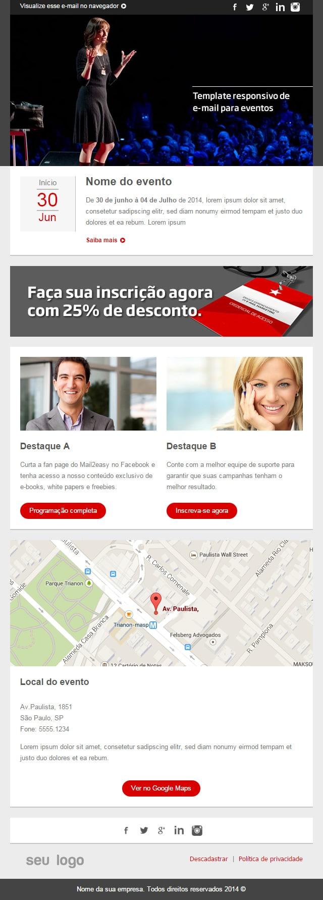 Templates responsivos para e-mail marketing