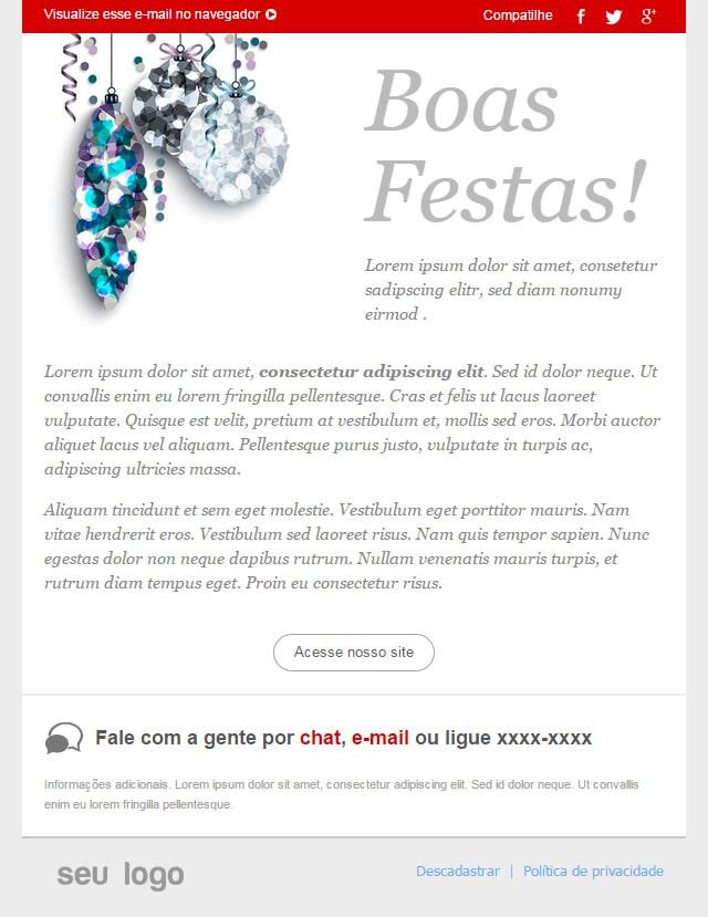 novo template de email Boas Festas