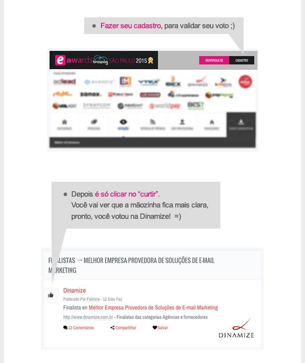Votação - Dinamize na eShow Brasil 2015