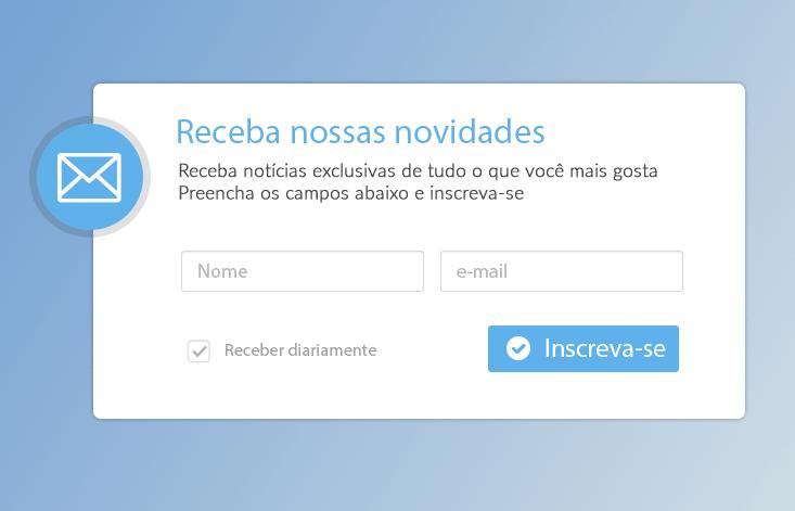 Um form de Newsletter: meio legitimo de obter contatos interessados