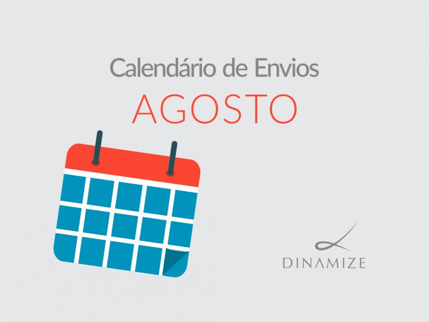 Calendario de Envios - Agosto