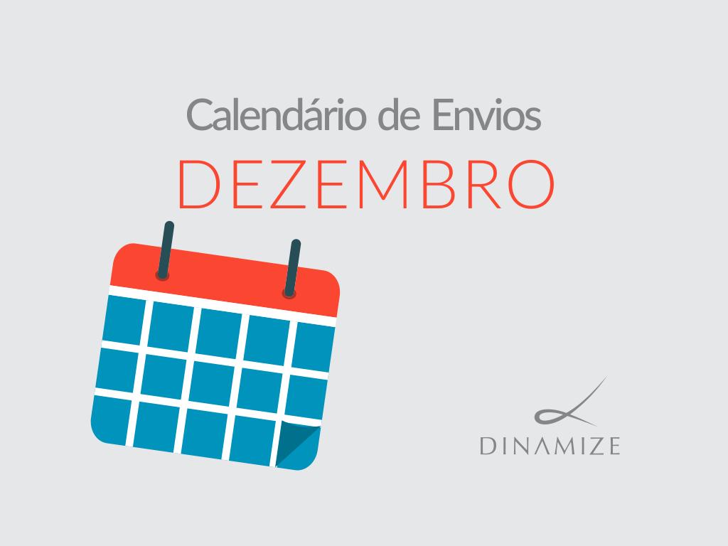 Calendario de Envios - Dezembro