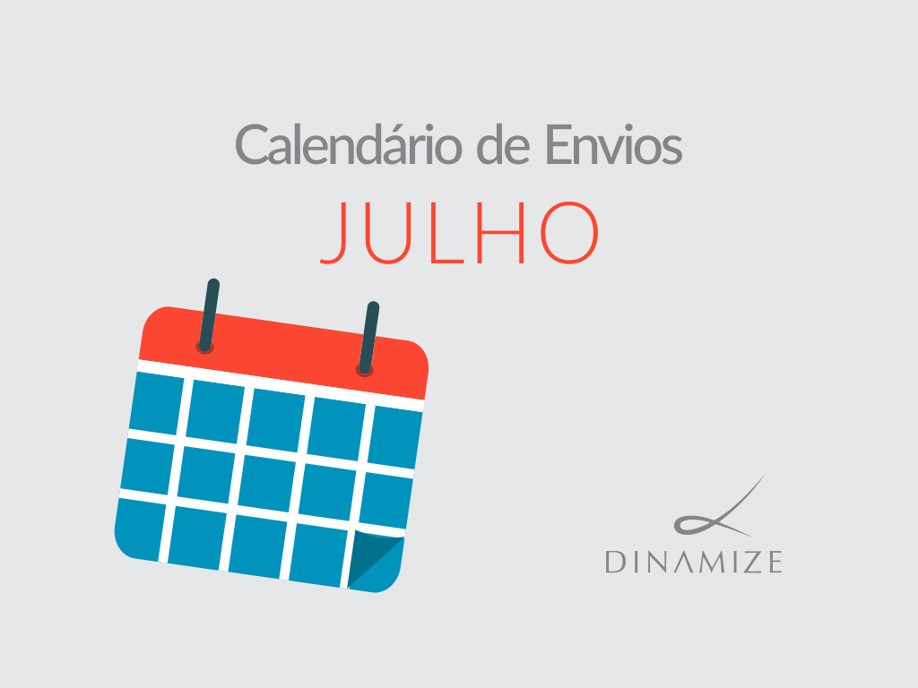 Calendario de Envios - Julho