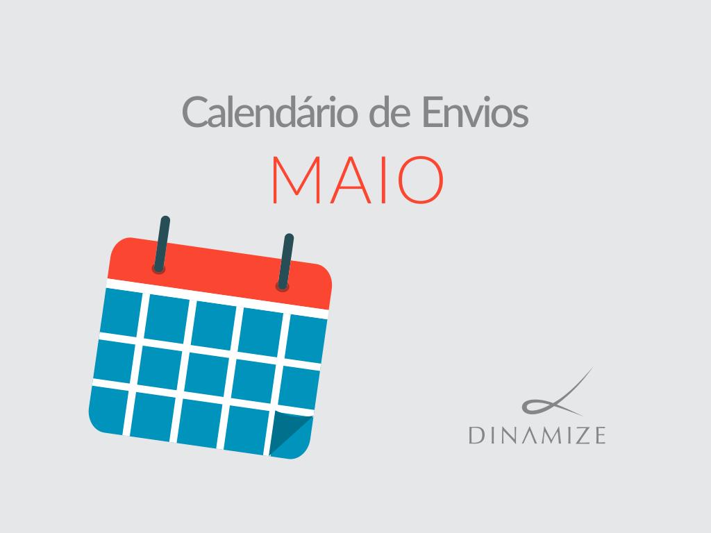 Calendario de Envios - Maio