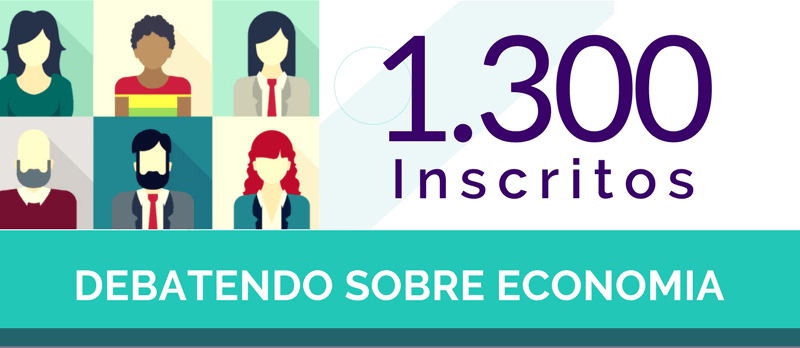 1300 inscritos debatendo economia