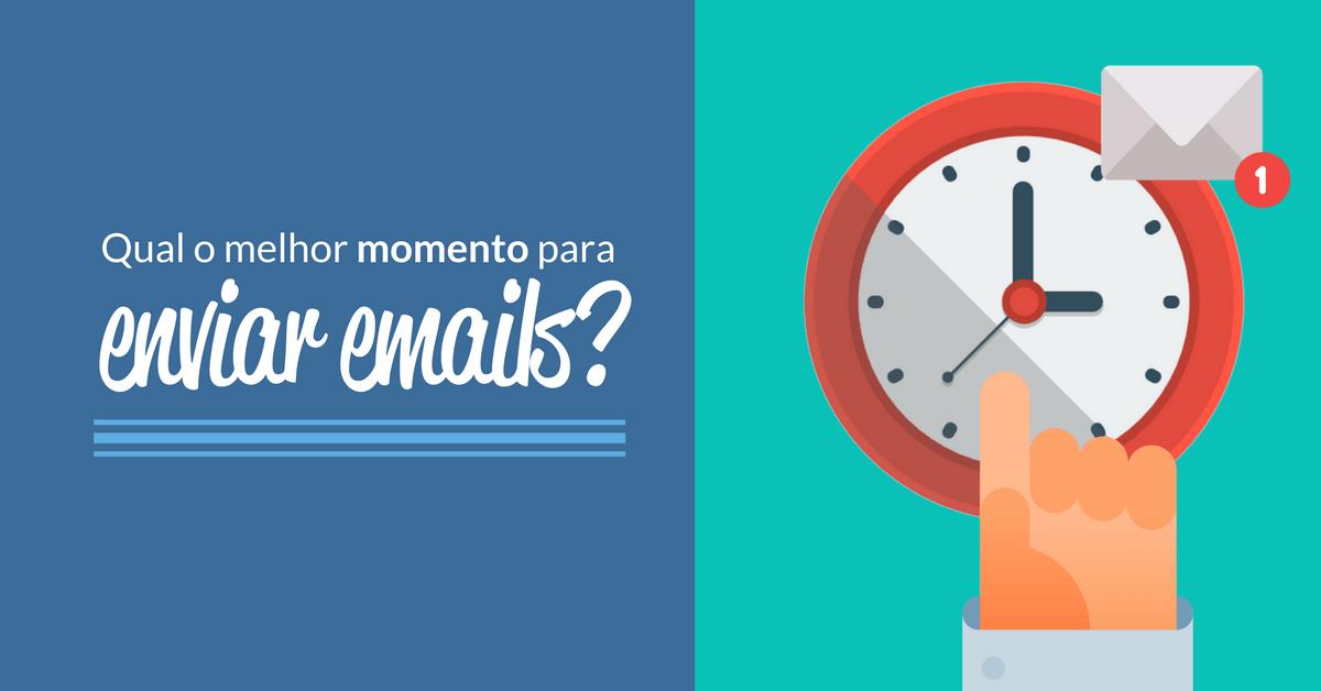Qual é o melhor momento para enviar emails?