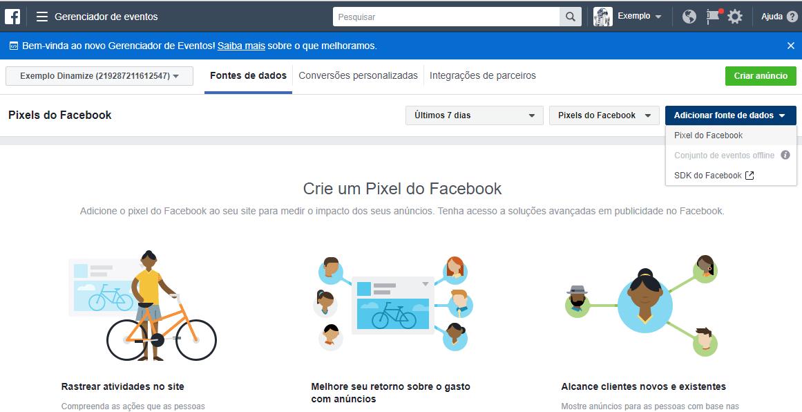 Como criar um pixel do Facebook e configurá-lo