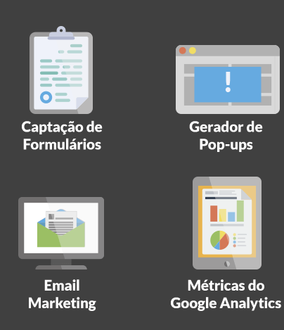 MKT2Easy - Captação de Formulários, Gerador de Pop-Ups, Email Marketing e Métrica Google Analytics