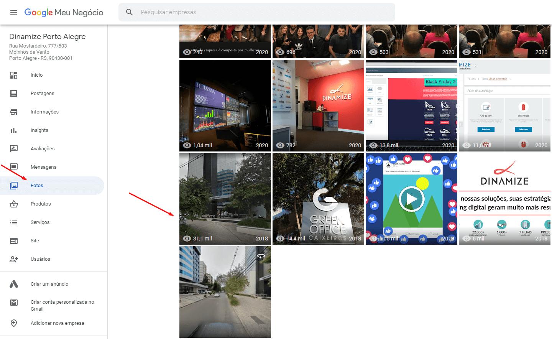Como excluir fotos do Google Meu Negócio