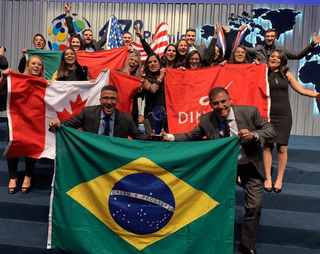 foto com bandeiras