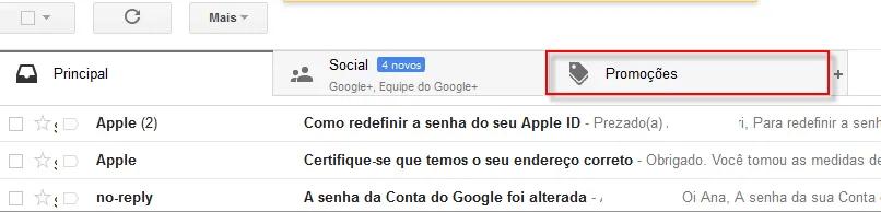 entenda como funciona a aba de promoções do Gmail