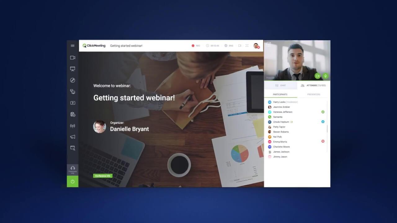 ClickMeeting para webinar