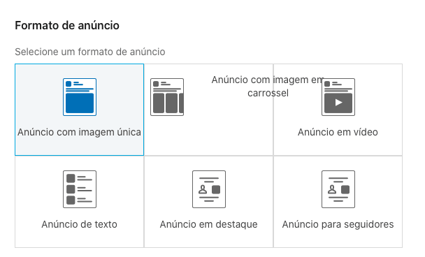formatos de anuncios do linkedin ads