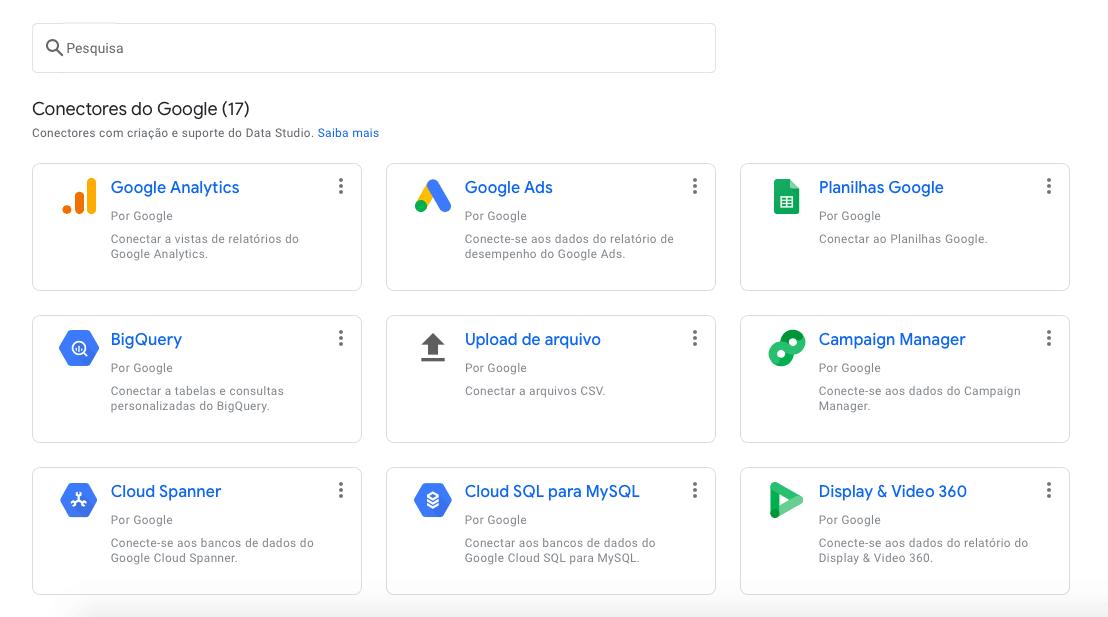 Google Data Studio conectores