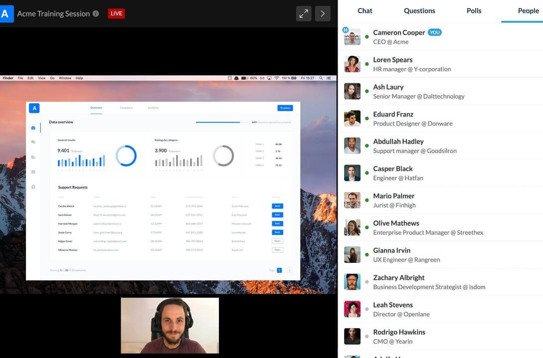 Livestorm ferramenta para webinarario