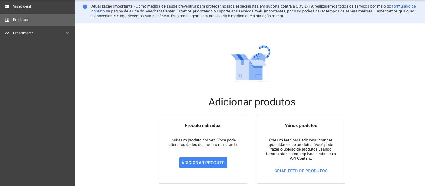 adicione um produto individual