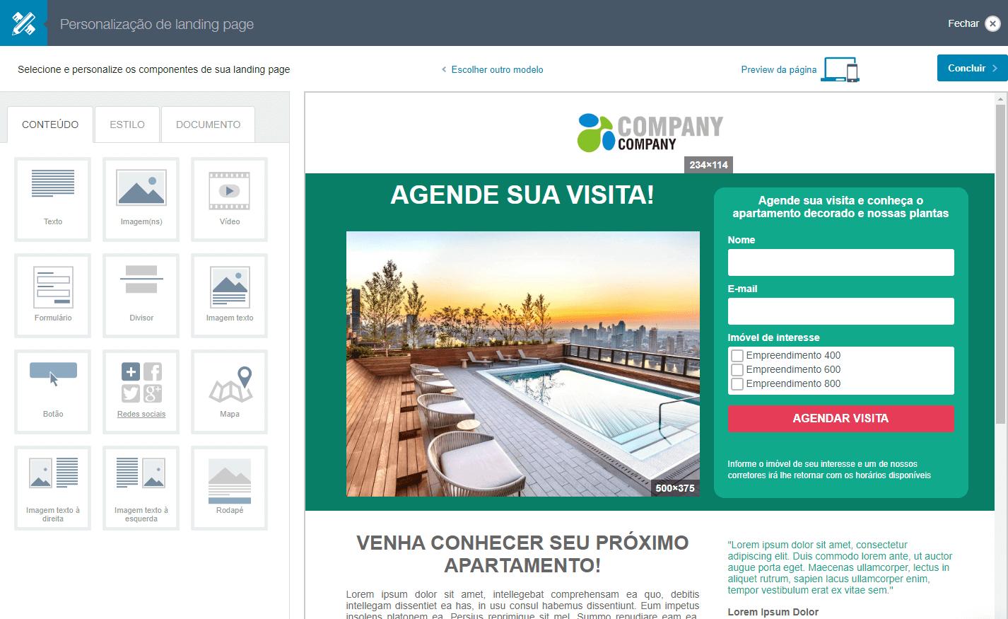 também utilize de recursos como landing pages agendar visita imoveis em uma ferramenta automação de marketing imobiliárias