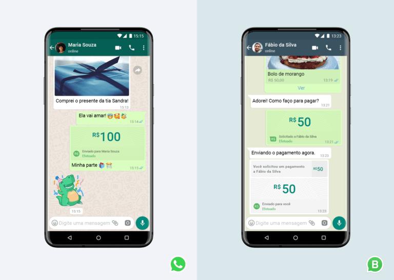 Recurso permite a execução de pagamentos dentro da conversa no aplicativo