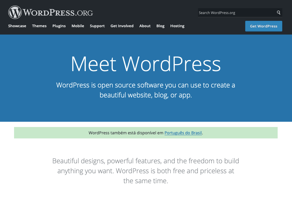 CMS - WordPress blog