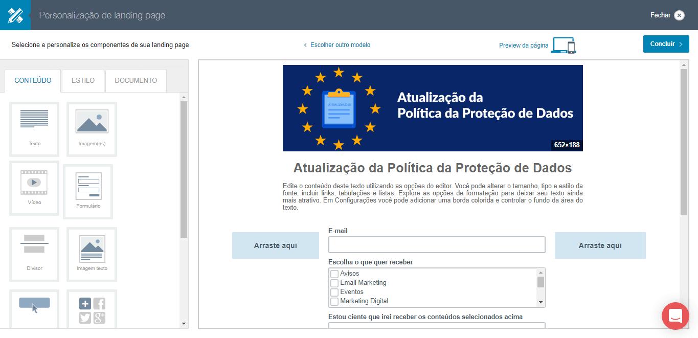 LGPD - Modelos de landing page dentro da lei com permissões