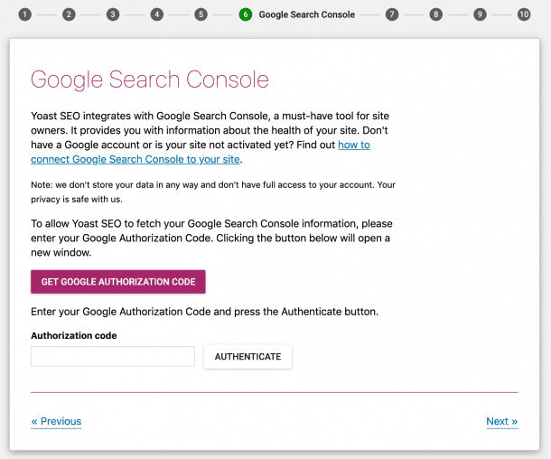 google search console yoast sitemap