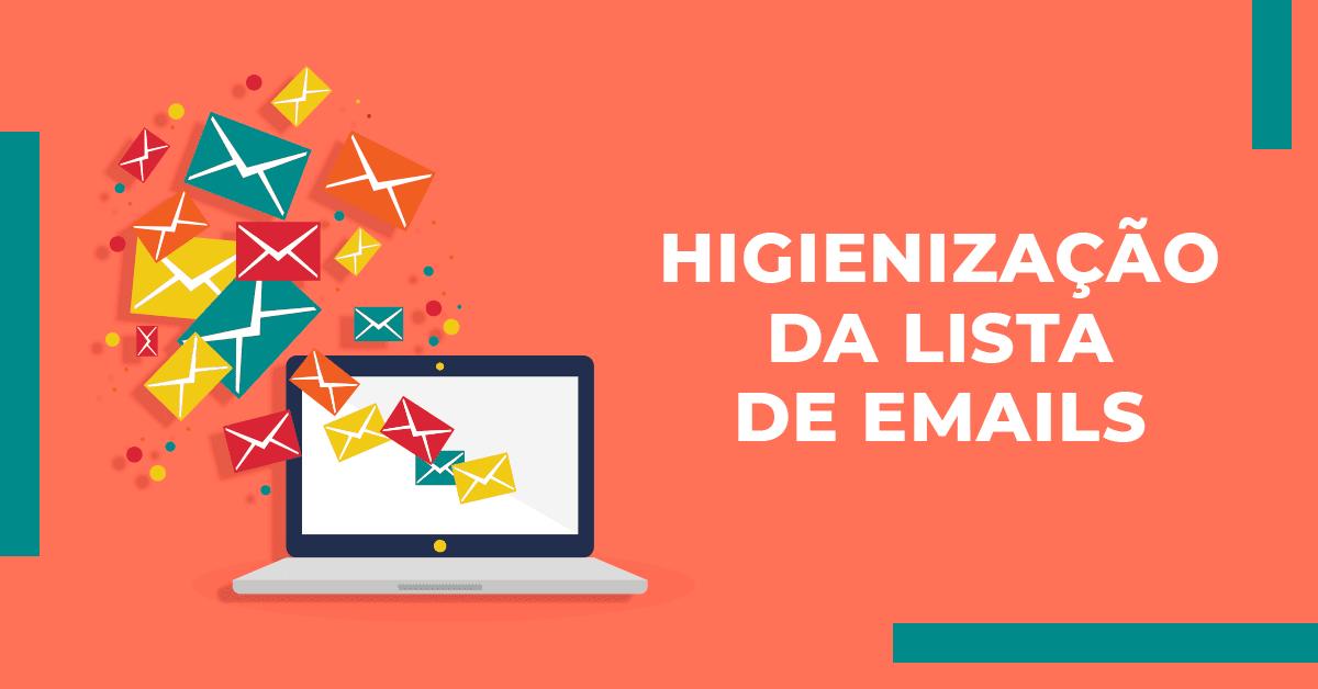 Higienização da lista de emails