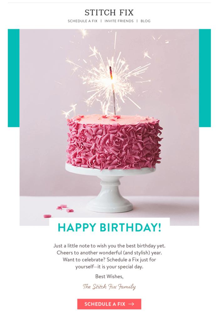 email de aniversário: dicas de design