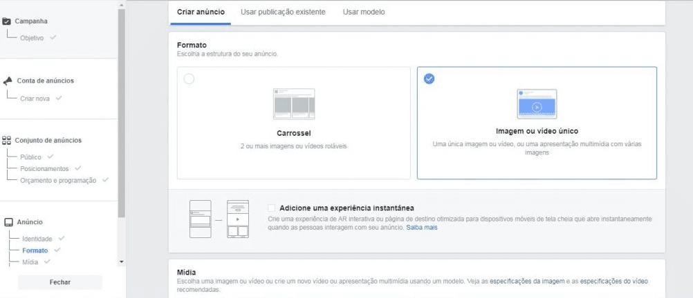 facebook ads - anuncio