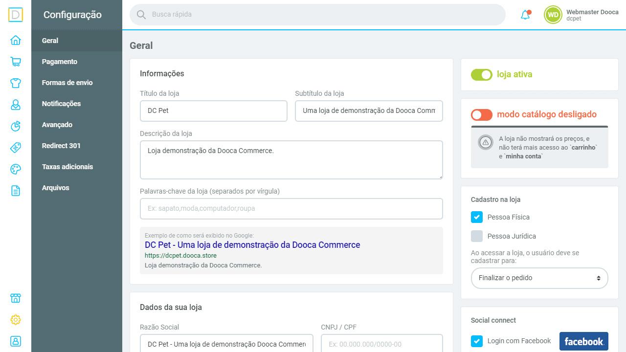 Dooce commerce - plataforma de ecommerce