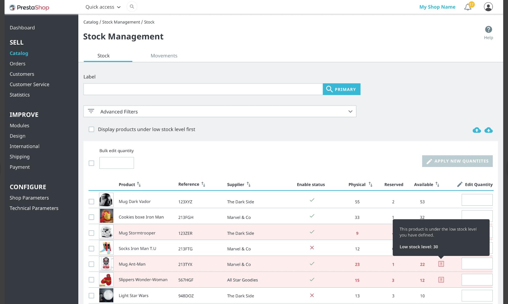 PrestaShop - plataforma de ecommerce