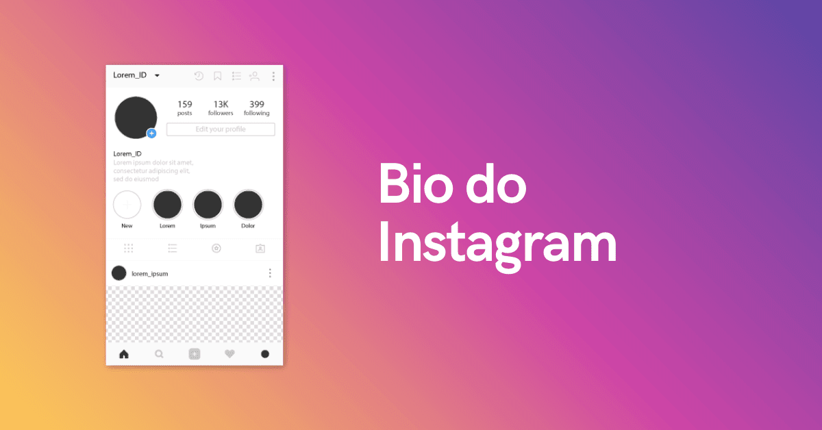 bio do instagram