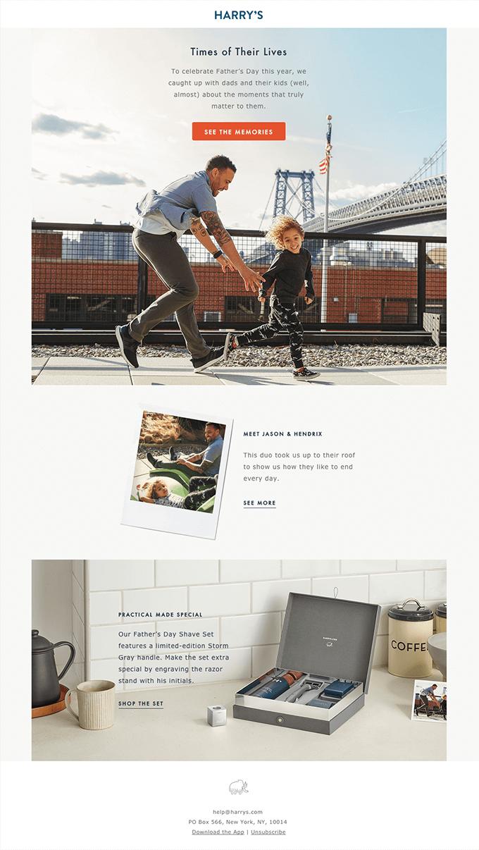 dia dos pais - email marketing em datas comemorativas