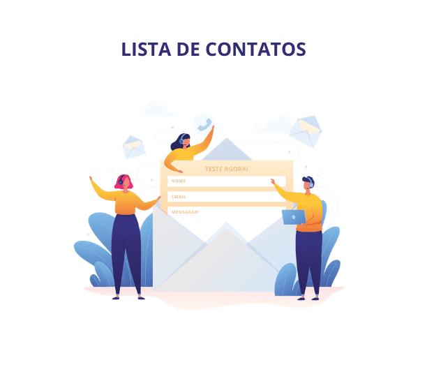 como criar uma lista de contatos