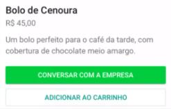 determinados produtos do catálogo_bolo de cenoura