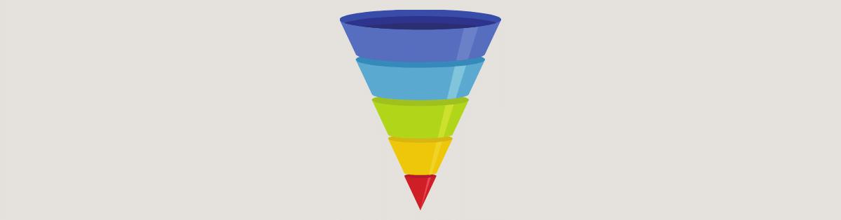 Estruture o funil de vendas para organizar suas ações de marketing
