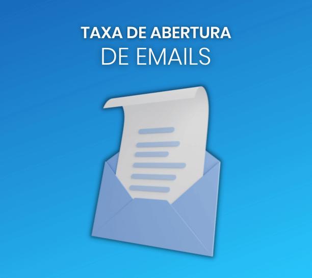 taxa de abertura de emails
